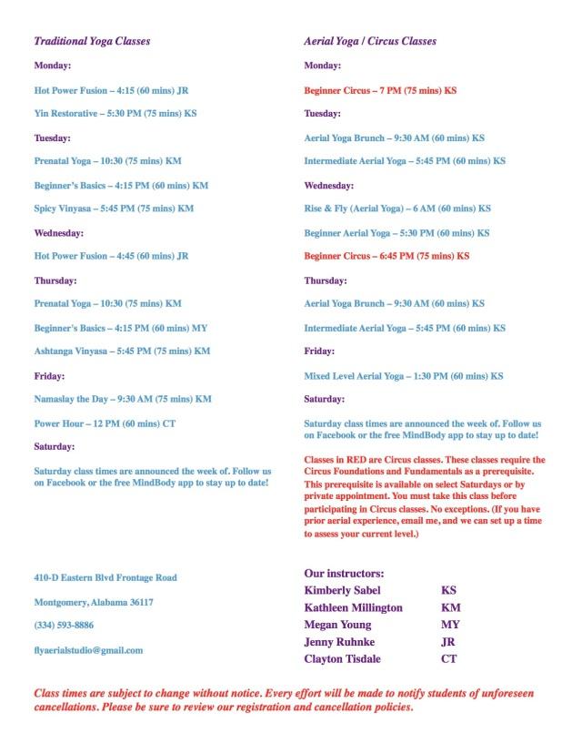 10 16 schedule website